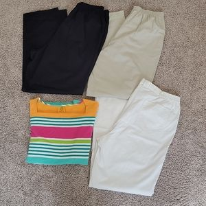 Alfred Dunner Classic Pull On Pants & Ruby Rd Set